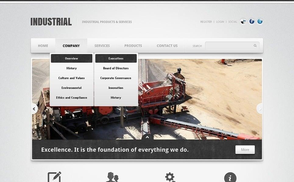 Plantilla Flash CMS #40638 para Sitio de Industria New Screenshots BIG