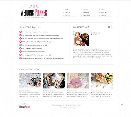 Template 40649 ( About Us Page ) ADOBE Photoshop Screenshot