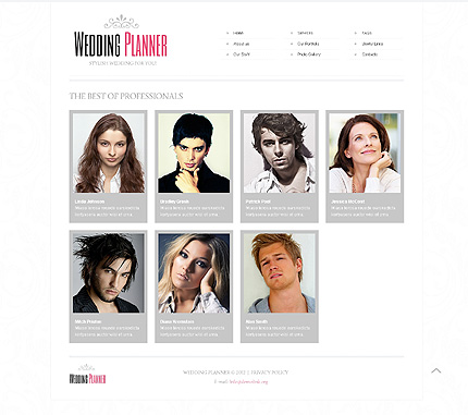 Template 40649 ( Our Staff Page ) ADOBE Photoshop Screenshot