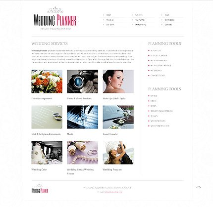 Template 40649 ( Services Page ) ADOBE Photoshop Screenshot