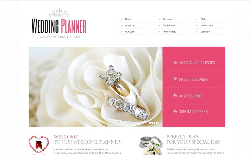 Esküvőszervezők  Weboldal sablon New Screenshots BIG