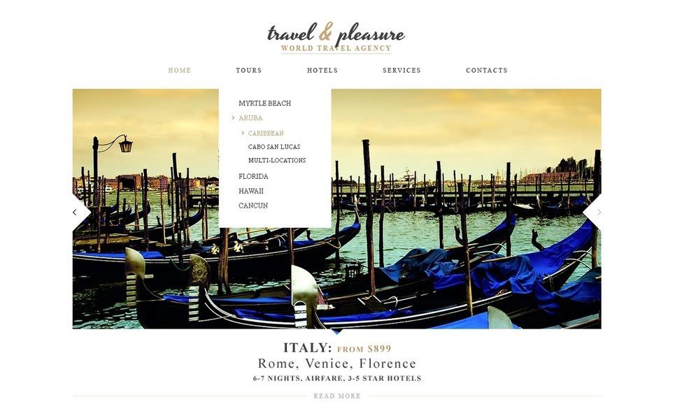 Responsive Website Vorlage für Reisebüro  New Screenshots BIG