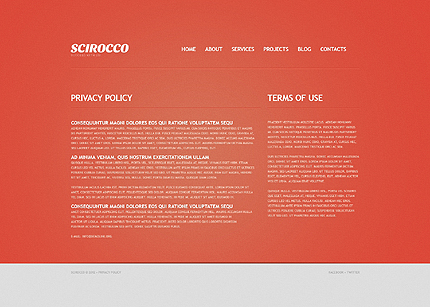 Template 40655 ( Privacy Policy Page ) ADOBE Photoshop Screenshot