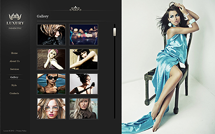 Template 40656 ( Gallery Page ) ADOBE Photoshop Screenshot