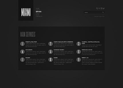 Template 40658 ( Services Page ) ADOBE Photoshop Screenshot