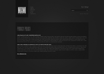 Template 40658 ( Privacy Policy Page ) ADOBE Photoshop Screenshot