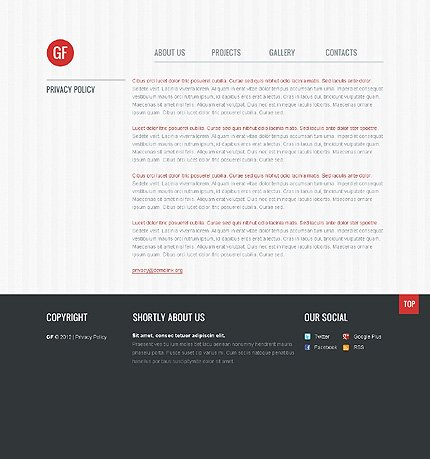 Template 40659 ( Privacy Policy Page ) ADOBE Photoshop Screenshot