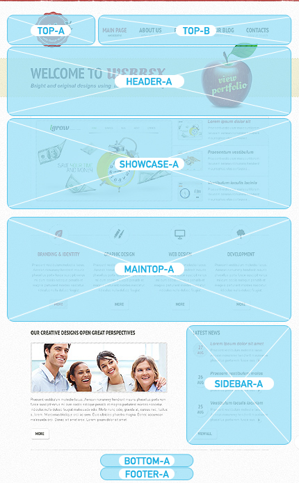 Joomla Theme/Template 40664 Main Page Screenshot