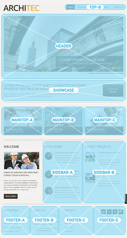 Joomla Theme/Template 40669 Main Page Screenshot