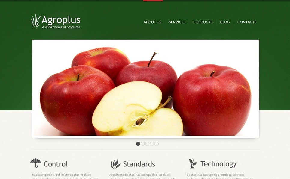 Szablon Joomla #40676 na temat: rolnictwo New Screenshots BIG