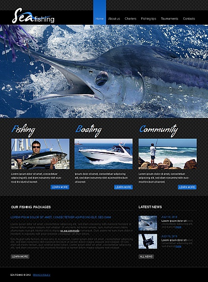 ADOBE Photoshop Template 40687 Home Page Screenshot