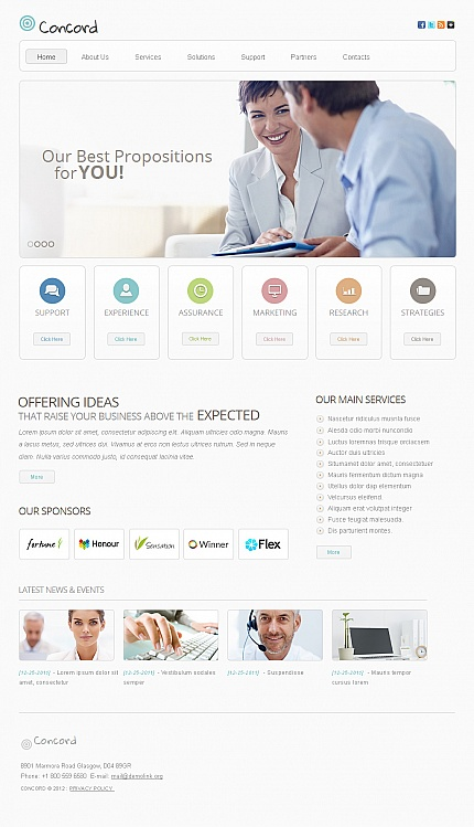 ADOBE Photoshop Template 40688 Home Page Screenshot