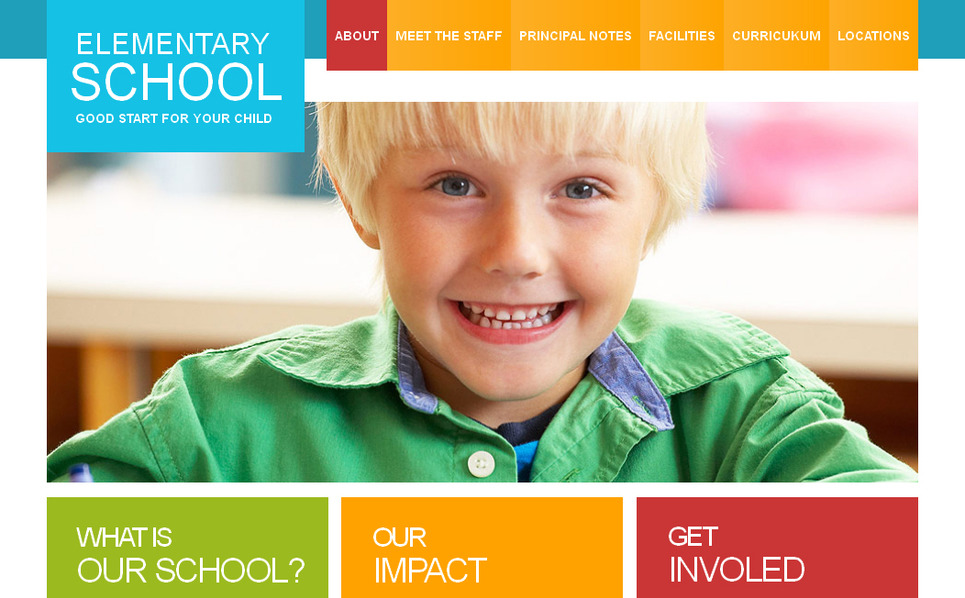 Szablon Moto CMS HTML #40689 na temat: szkoła podstawowa New Screenshots BIG
