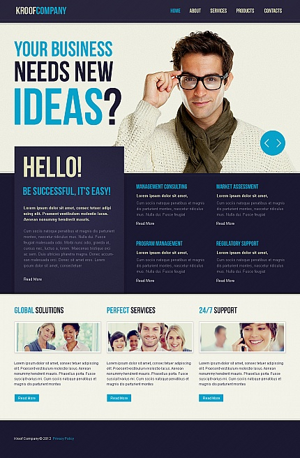 ADOBE Photoshop Template 40692 Home Page Screenshot