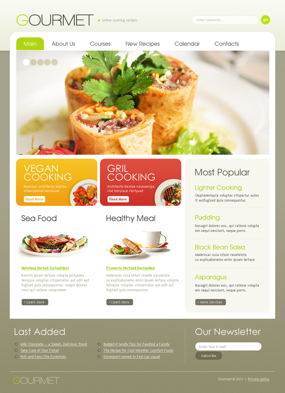 Cooking Recipes Website Template with jQuery Gallery - image