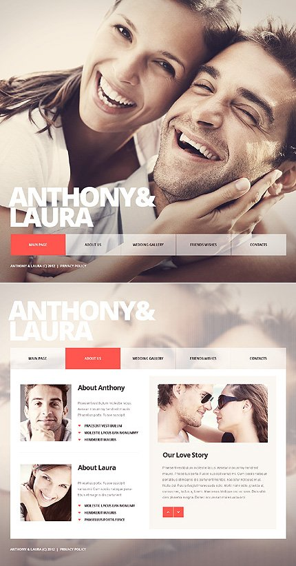 ADOBE Photoshop Template 40694 Home Page Screenshot