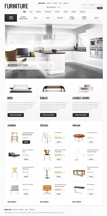 osCommerce Template 40697 Main Page Screenshot
