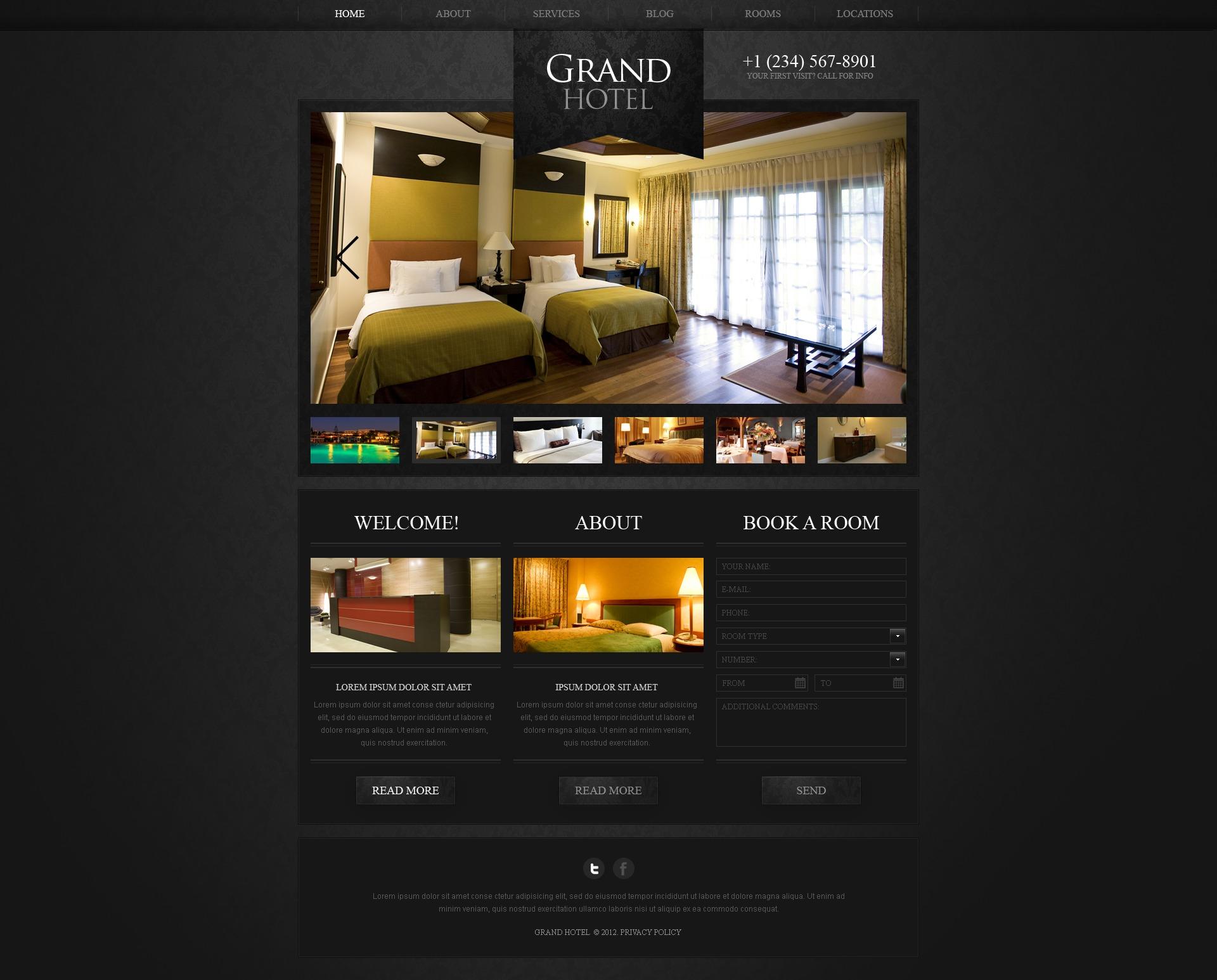 Hotels WordPress Theme #40645