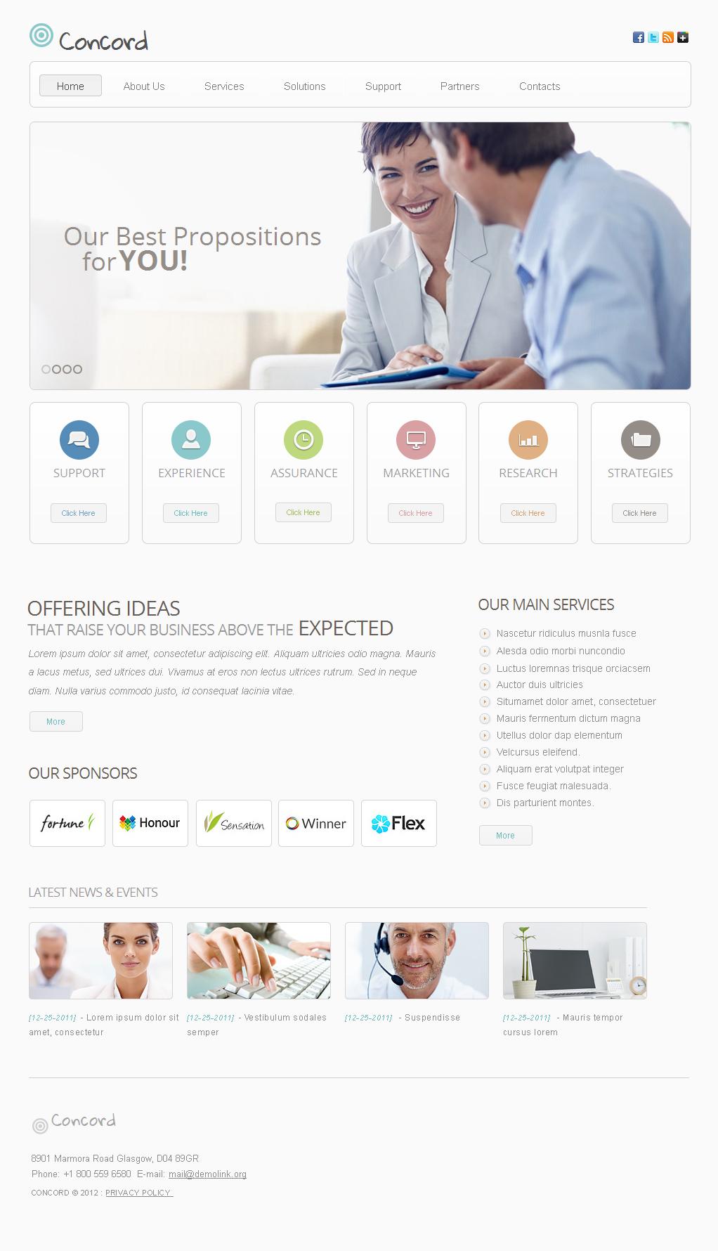 Modello Moto CMS HTML #40688 per Un Sito di Business e Servizi