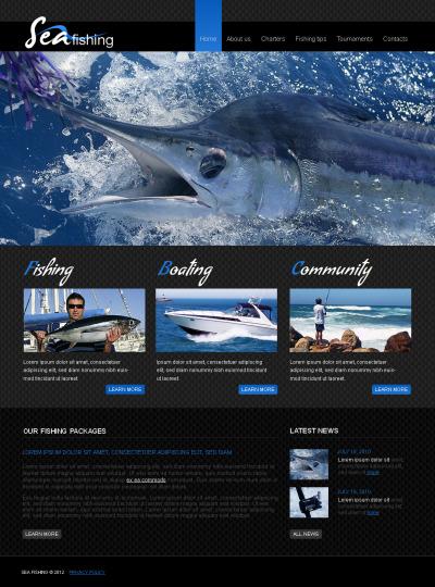 Fishing Moto CMS HTML Template