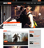 Games Website  Template 40701