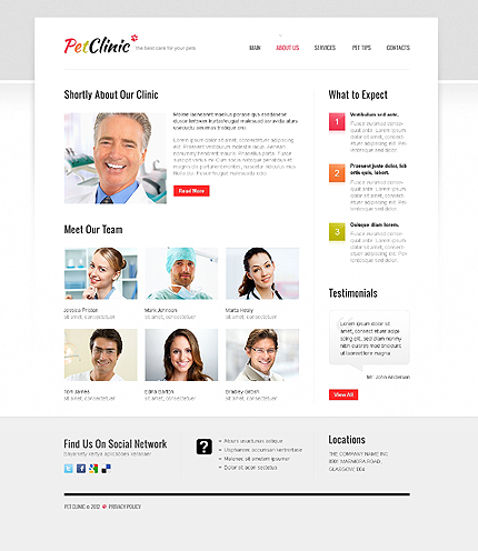 Template 40704 ( About Us Page ) ADOBE Photoshop Screenshot