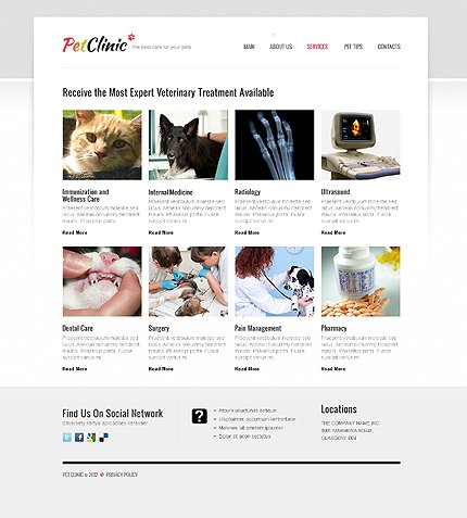 Template 40704 ( Services Page ) ADOBE Photoshop Screenshot