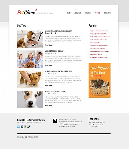 Template 40704 ( Pet Tips Page ) ADOBE Photoshop Screenshot