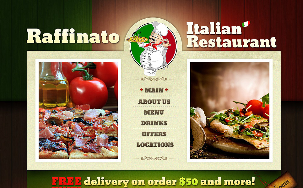 Template Siti Web  #40705 per Un Sito di Ristorante Italiano New Screenshots BIG