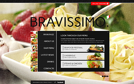 Template 40707 ( Our menu Page ) ADOBE Photoshop Screenshot