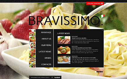 Template 40707 ( Latest News Page ) ADOBE Photoshop Screenshot