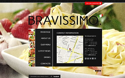 Template 40707 ( Contacts Page ) ADOBE Photoshop Screenshot