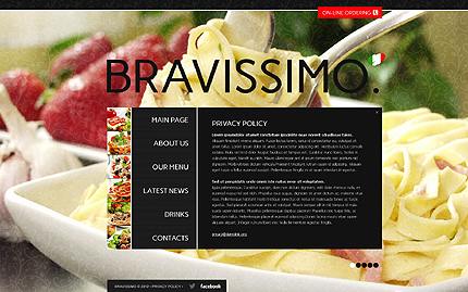 Template 40707 ( Privacy Policy Page ) ADOBE Photoshop Screenshot