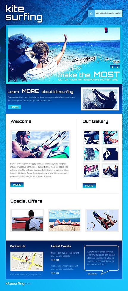 ADOBE Photoshop Template 40715 Home Page Screenshot