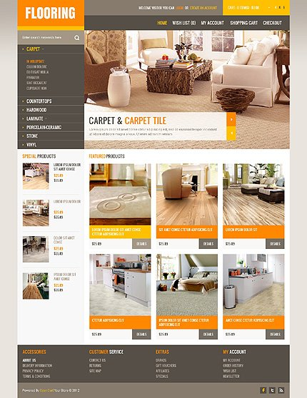 ADOBE Photoshop Template 40721 Home Page Screenshot