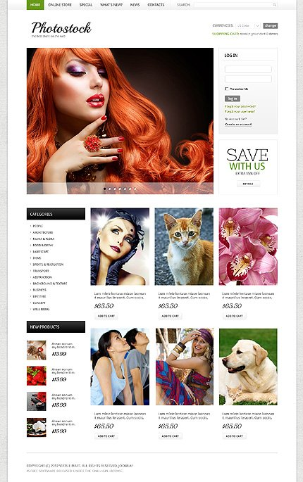 ADOBE Photoshop Template 40727 Home Page Screenshot