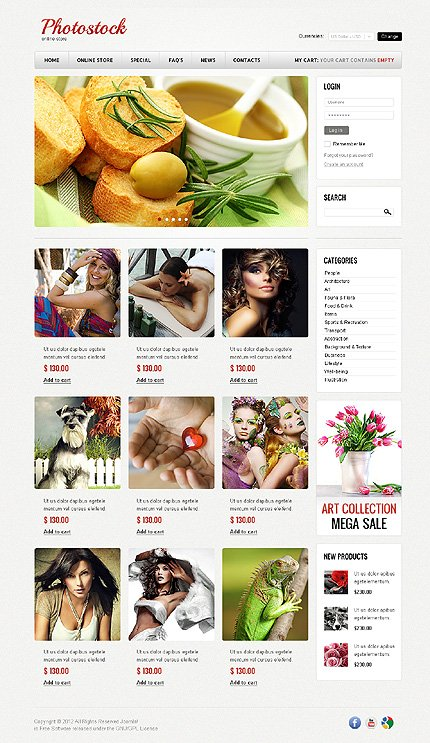 ADOBE Photoshop Template 40730 Home Page Screenshot