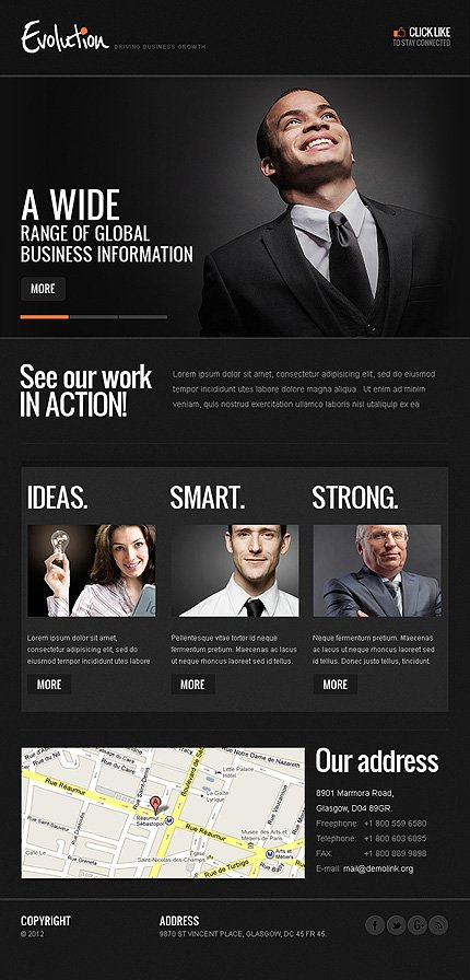 ADOBE Photoshop Template 40744 Home Page Screenshot