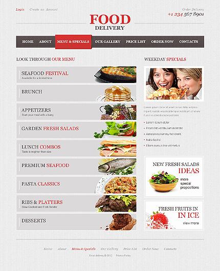 Template 40749 ( Menus & Specials Page ) ADOBE Photoshop Screenshot