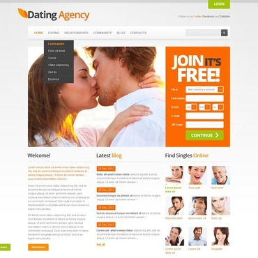 free dating site web templates