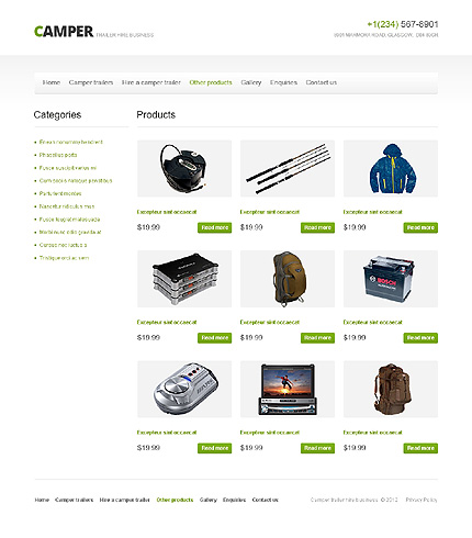 Template 40756 ( Other Products Page ) ADOBE Photoshop Screenshot