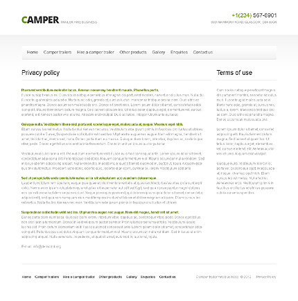 Template 40756 ( Privacy Policy Page ) ADOBE Photoshop Screenshot