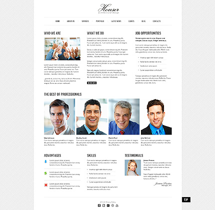 Template 40757 ( About Us Page ) ADOBE Photoshop Screenshot