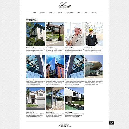 Template 40757 ( Services Page ) ADOBE Photoshop Screenshot