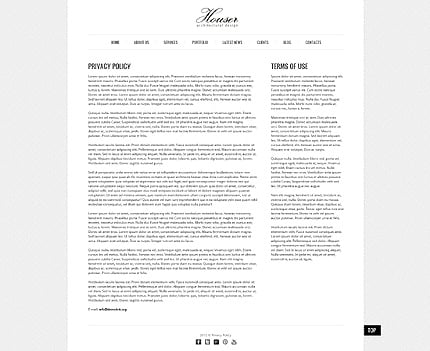 Template 40757 ( Privacy Policy Page ) ADOBE Photoshop Screenshot