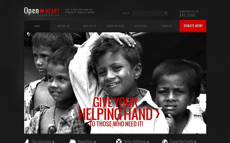 Tema Siti Web  #40758 per Un Sito di Beneficenza New Screenshots BIG