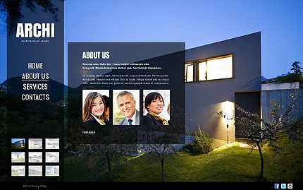Template 40766 ( About Us Page ) ADOBE Photoshop Screenshot