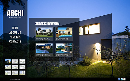 Template 40766 ( Services Page ) ADOBE Photoshop Screenshot