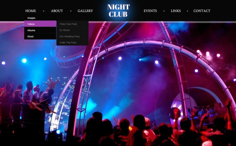 Šablona webových stránek Noční kluby New Screenshots BIG