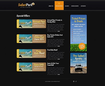 Template 40768 ( Special offers Page ) ADOBE Photoshop Screenshot